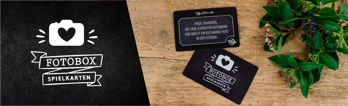 Fotobox Spielkarten für Hochzeiten